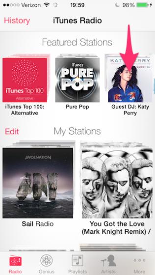 Start playing a radio station